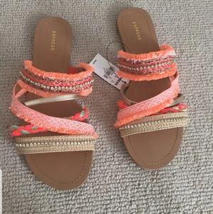👡 Express Coral Embellished Sandals Size 9